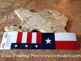 Texas Flag Bumper Sticker + 3 Small Stickers