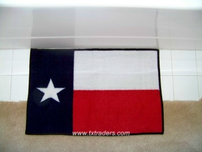 A Texas Flag Bath Mat