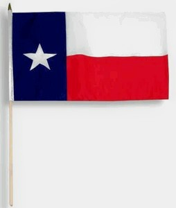 "Texas Flag 12"" x 18"" Parade Flag"