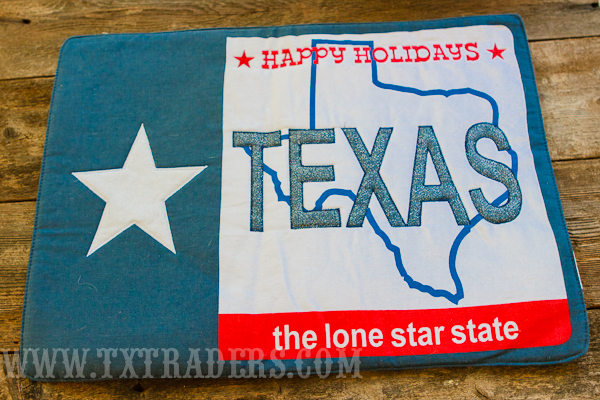 Texas Placemat - Happy Holidays