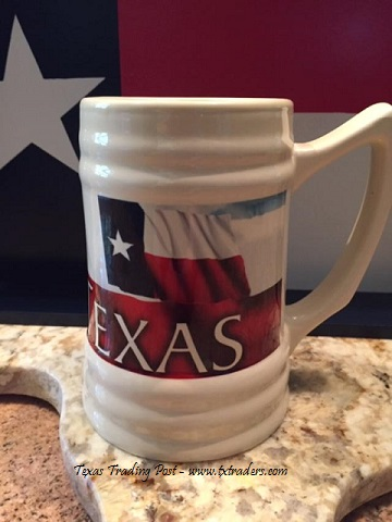 Texas Flag Beer Stein