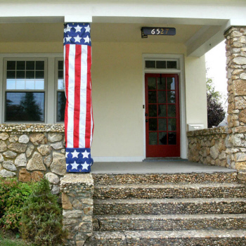United States Flag Column Wrap