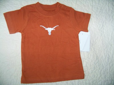 Baby U.T. T-Shirt with an embroidered Bevo
