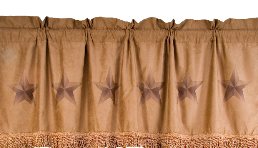 Rustic Lone Star Valance - Texas Home Decor
