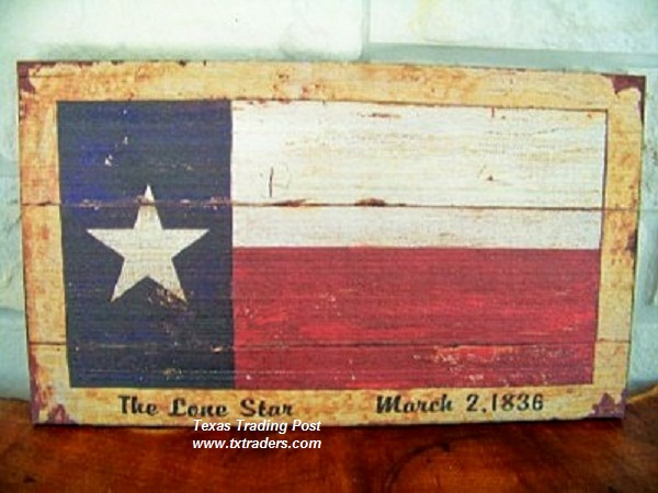 Texas Flag March 2, 1836 - Vintage Wall Decor