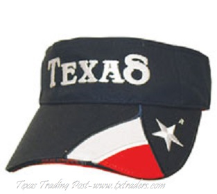 Visor with Embroidered Texas Flag