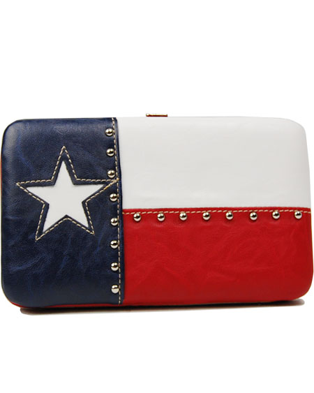 Texas Flag Frame Wallet Billfold