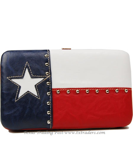 Texas Flag Frame Wallet Billfold