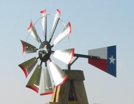 "Windmill - 47"" Fan Blades Set with the Texas Flag"