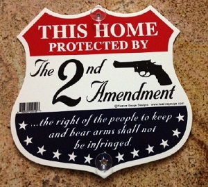 Window Sign This Home Protected by the 2nd Amendment