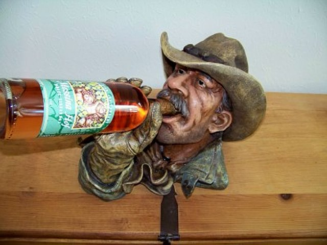 A Texas Cowboy Wine Holder