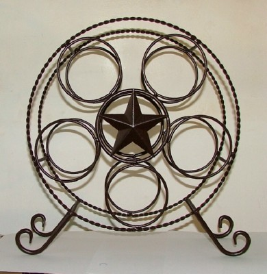Texas Wine Rack with the Texas Lone Star