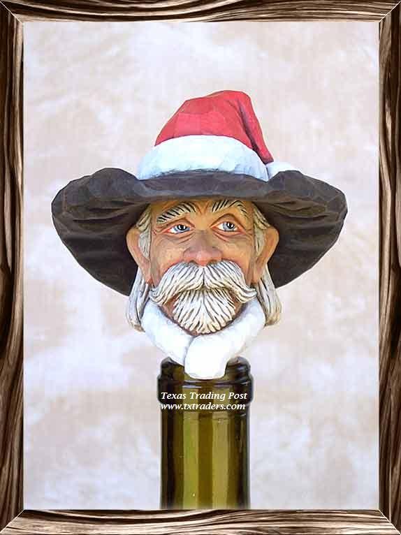 Cowboy Santa Wine Stopper